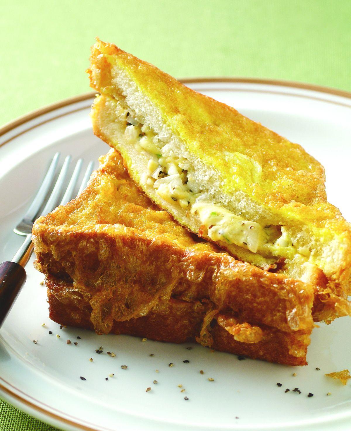 食譜:芝士洋蔥土司夾