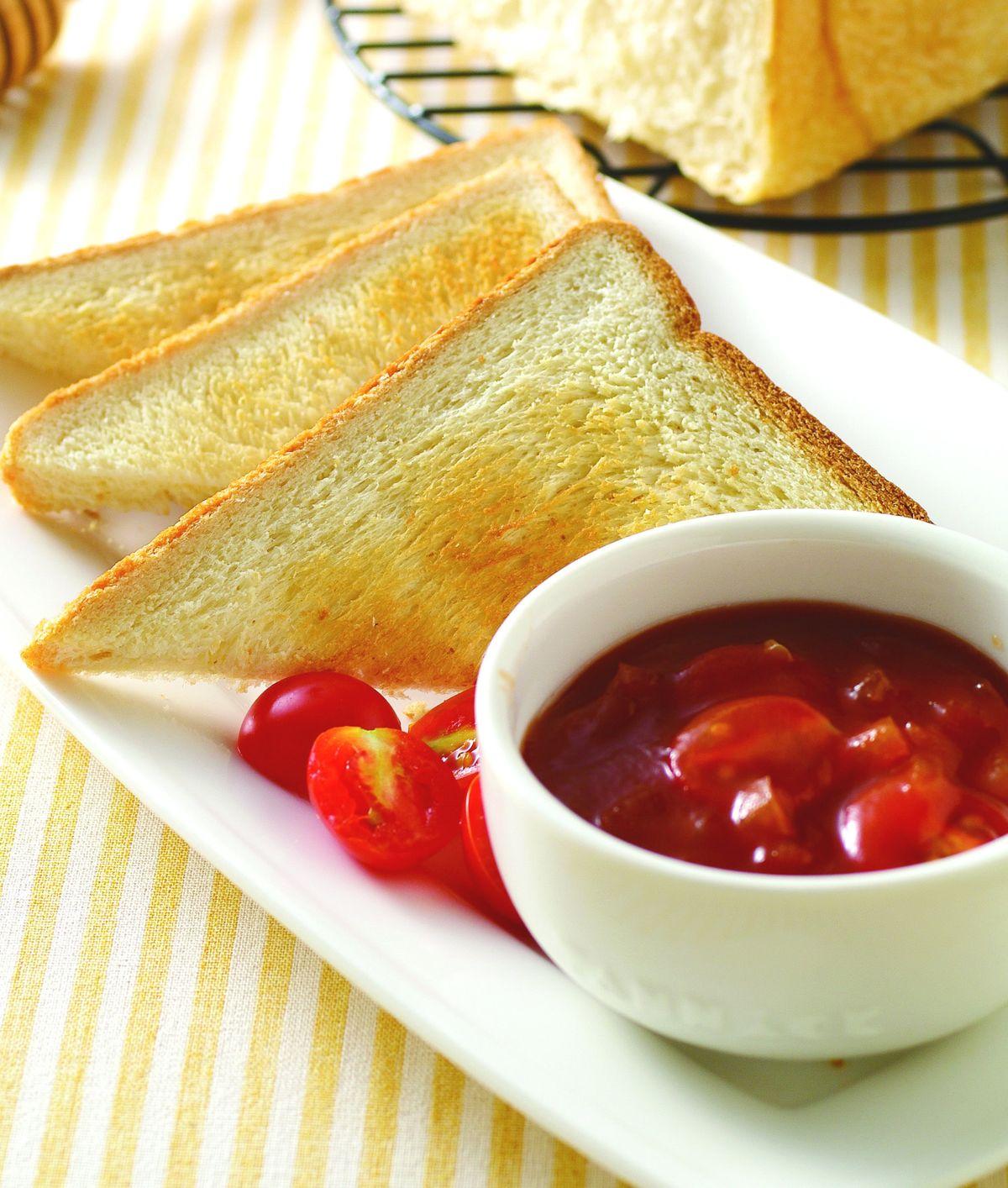 食譜:茄汁燴烤土司