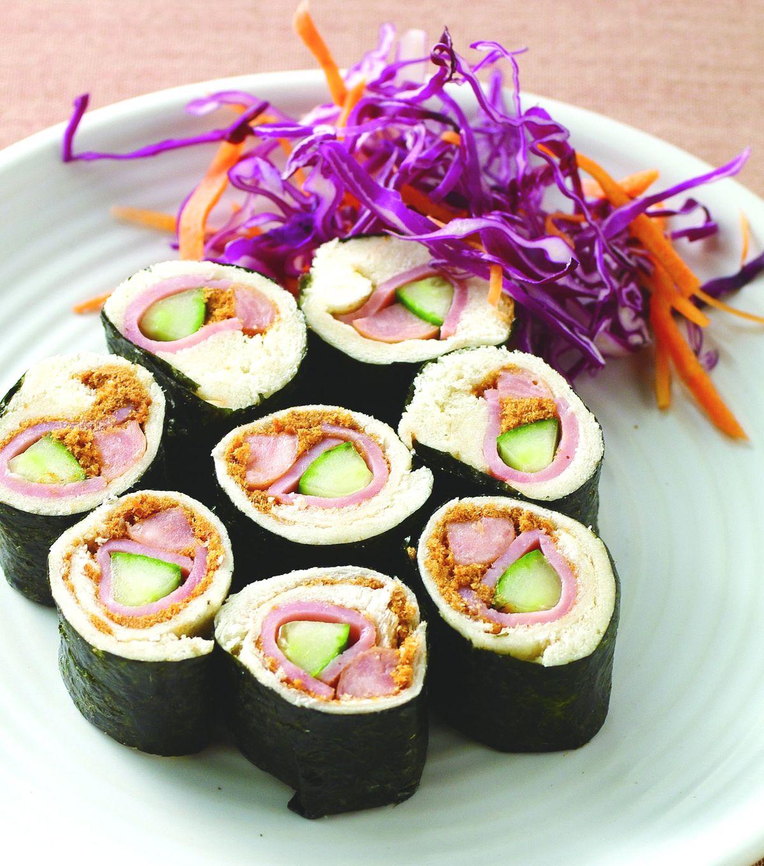 食譜:土司海苔捲