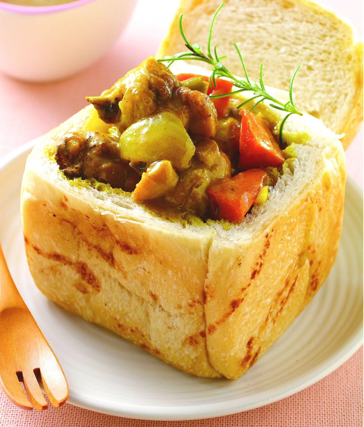 食譜:咖哩雞土司