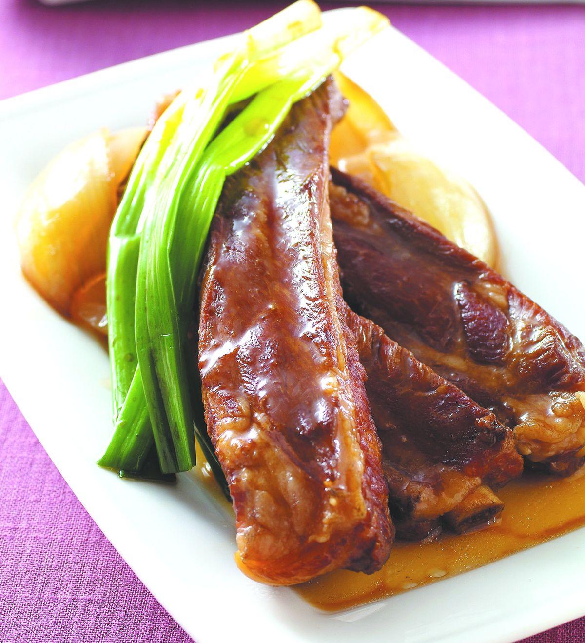 食譜:蔥燒排骨(5)