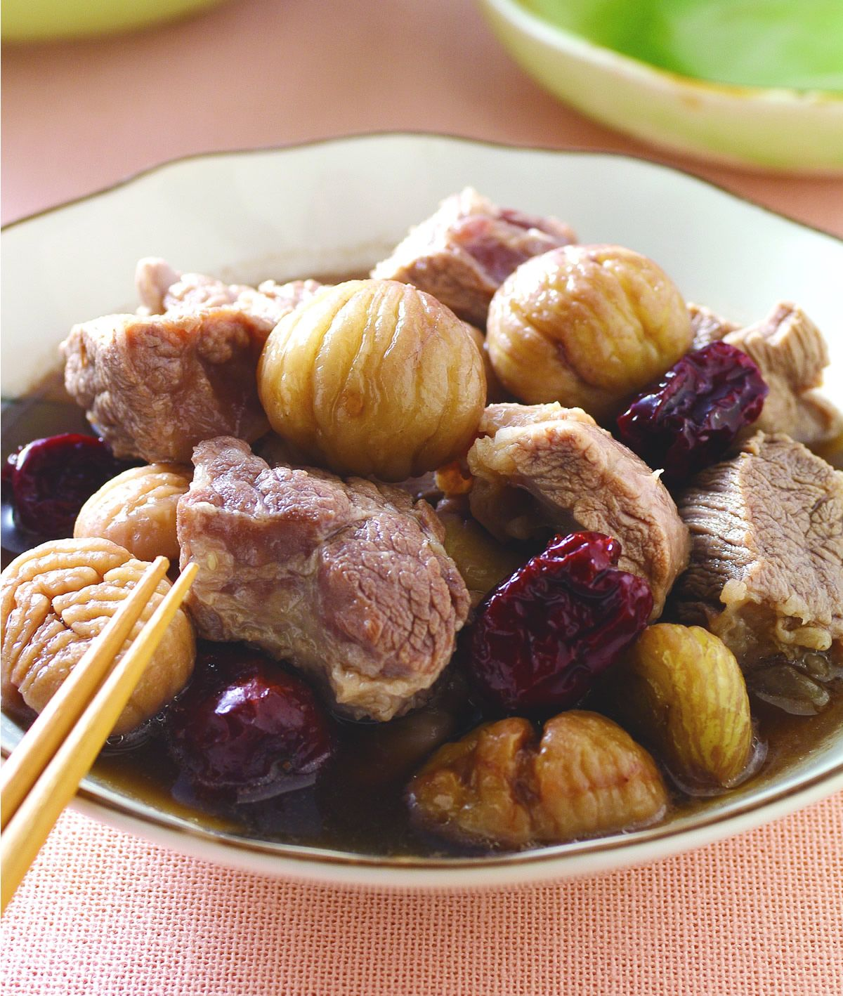 食譜:栗子紅棗燉肉