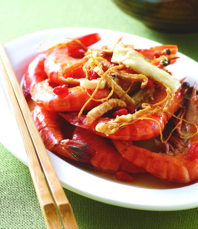 食譜:桂花蝦