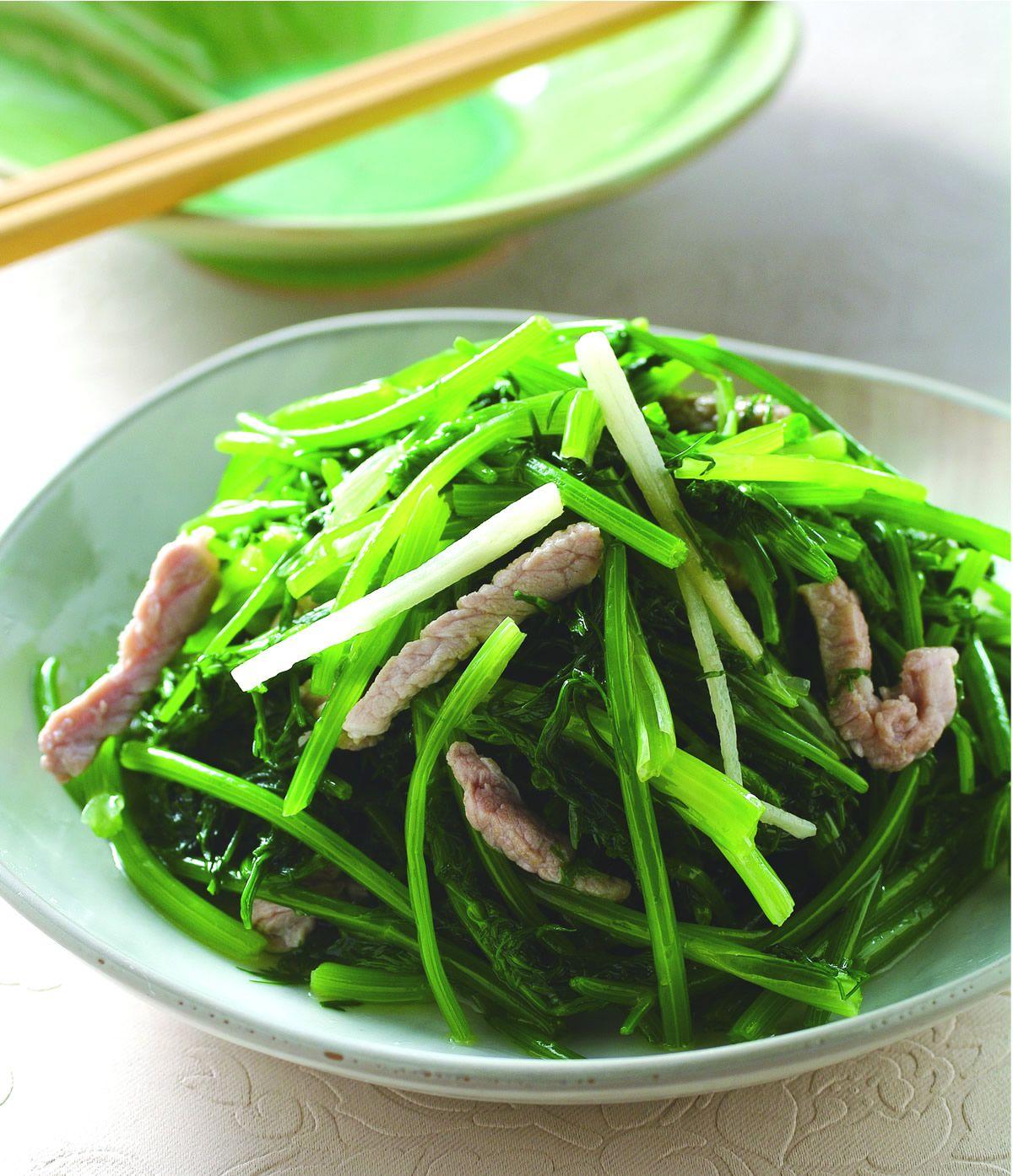食譜:麻油肉絲炒茴香
