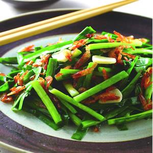 櫻花蝦炒韭菜