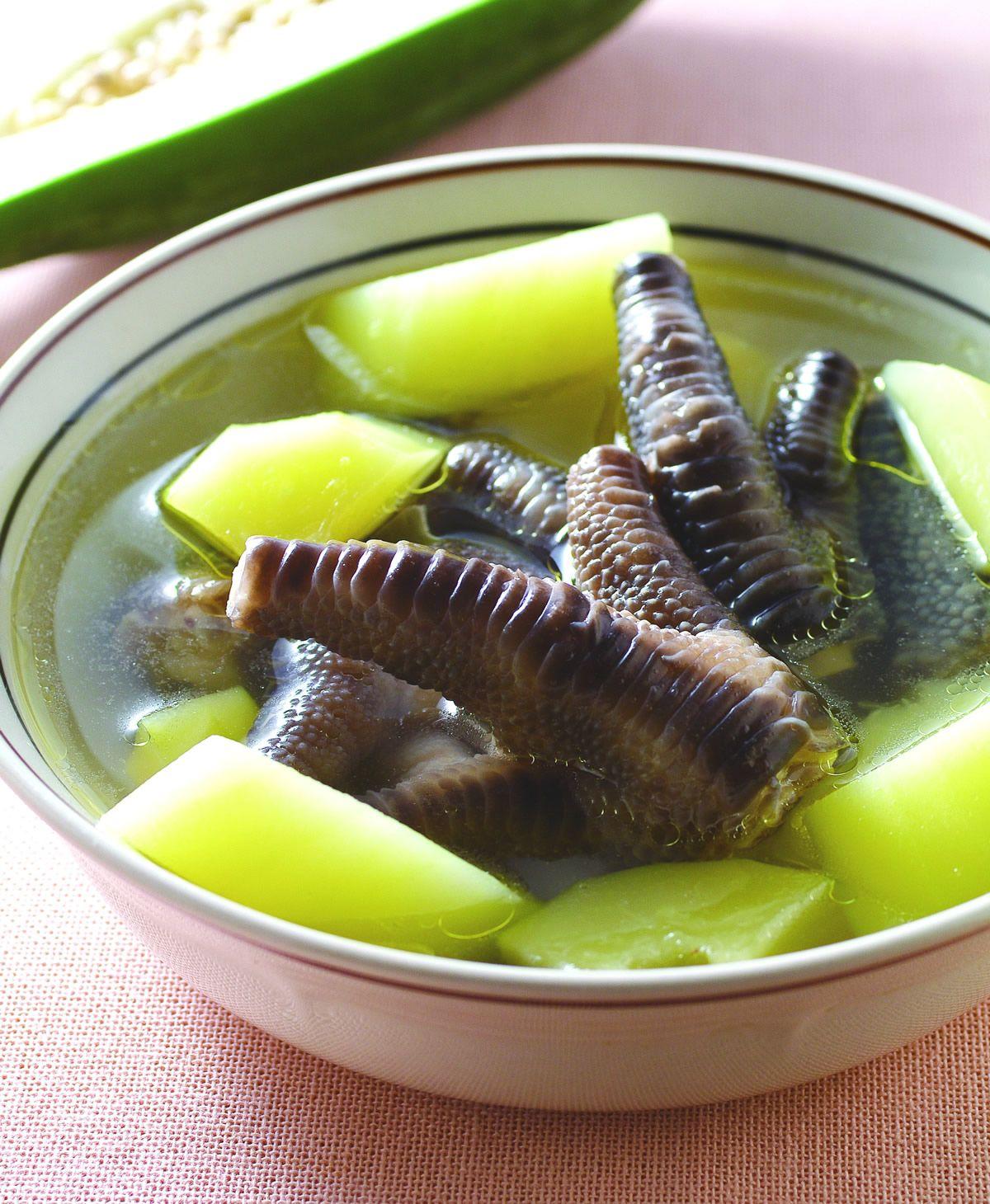 食譜:青木瓜鳳爪湯