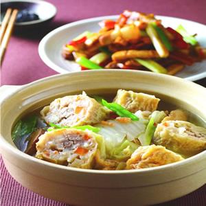 白菜滷雞卷