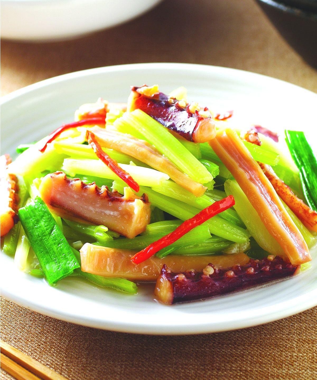 食譜:芹菜炒魷魚(5)