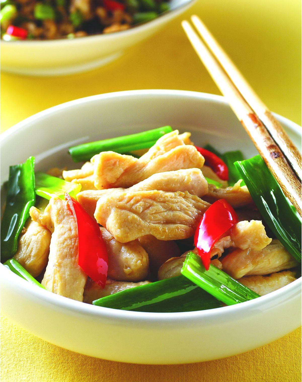 食譜:蔥尾炒雞柳