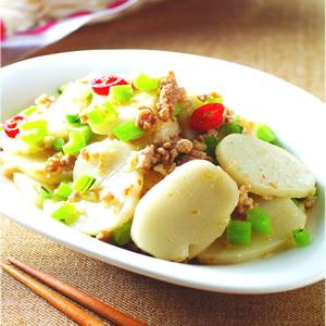蘿蔔葉炒年糕
