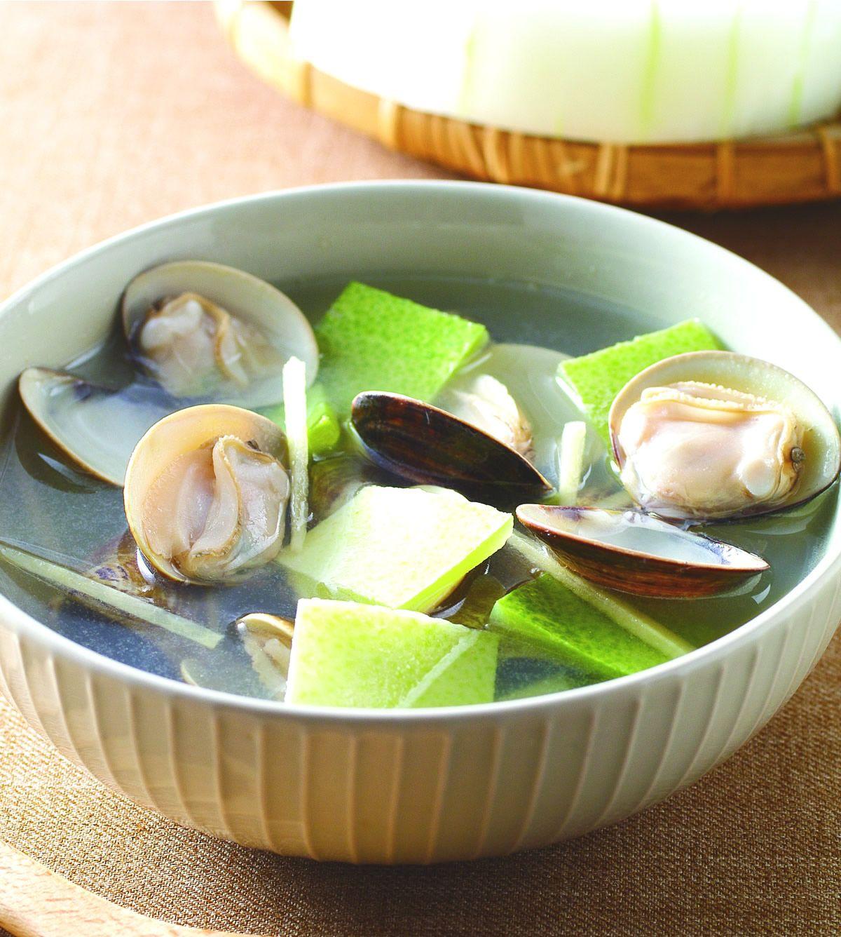 食譜:冬瓜皮蛤蜊湯