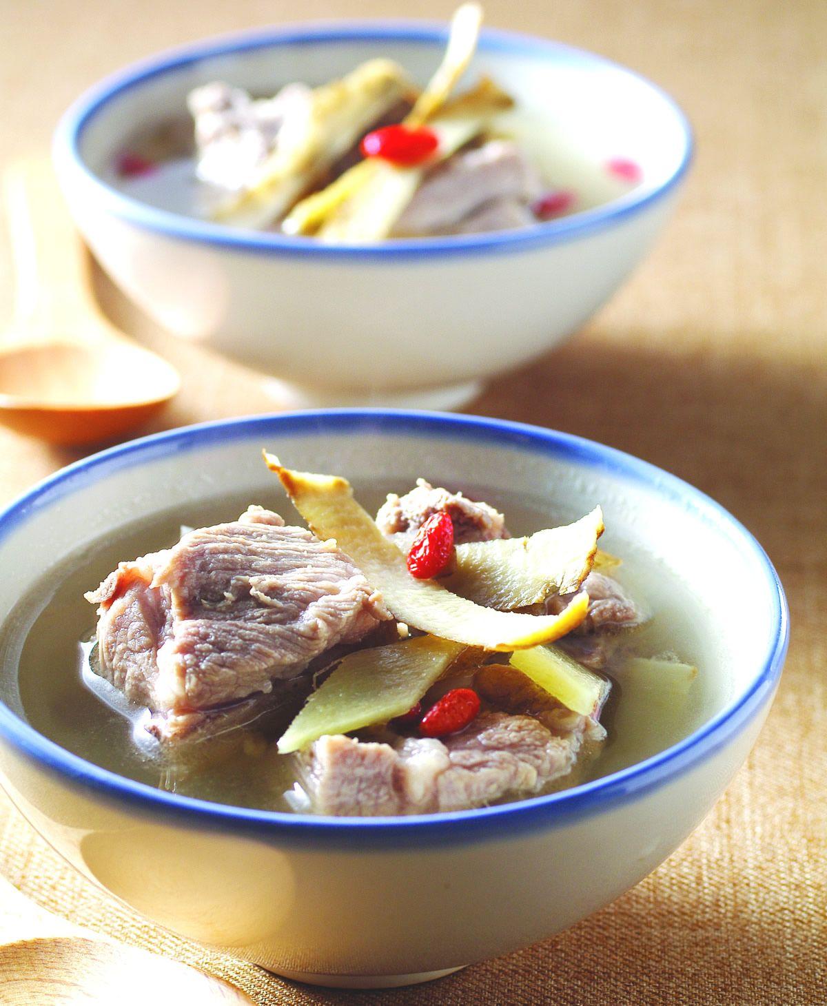 食譜:牛蒡皮枸杞排骨湯