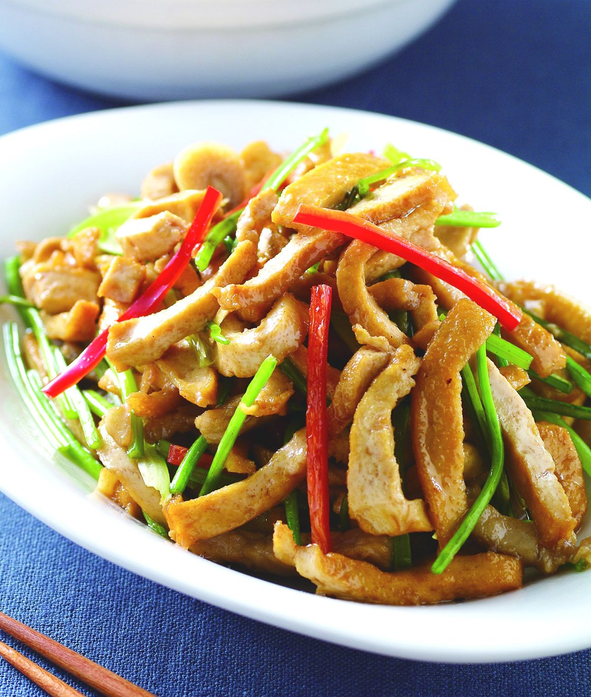 食譜:香菜梗炒干絲