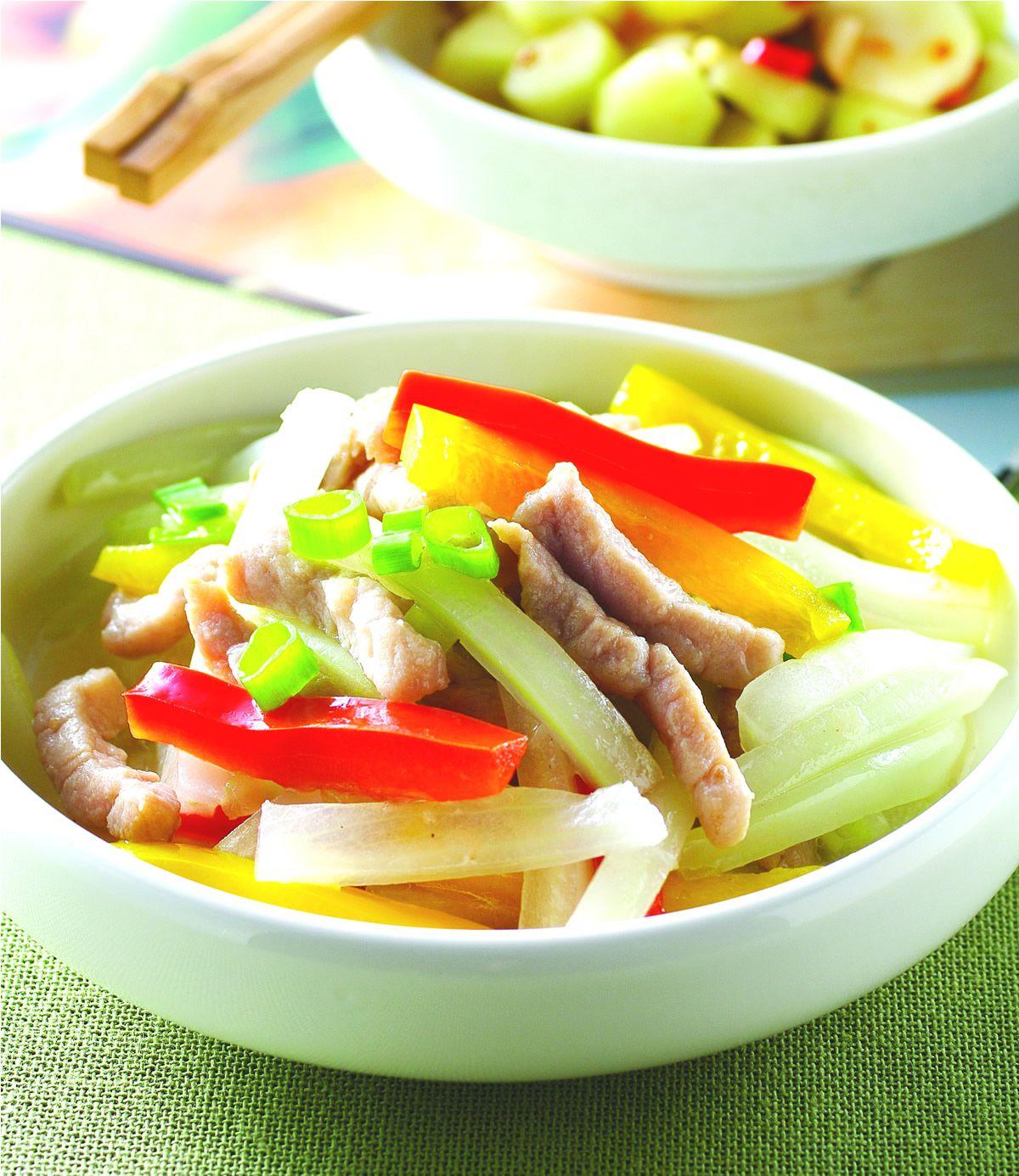 食譜:大白菜梗炒肉絲