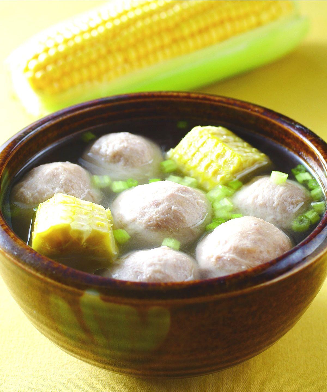 食譜:玉米梗丸子湯