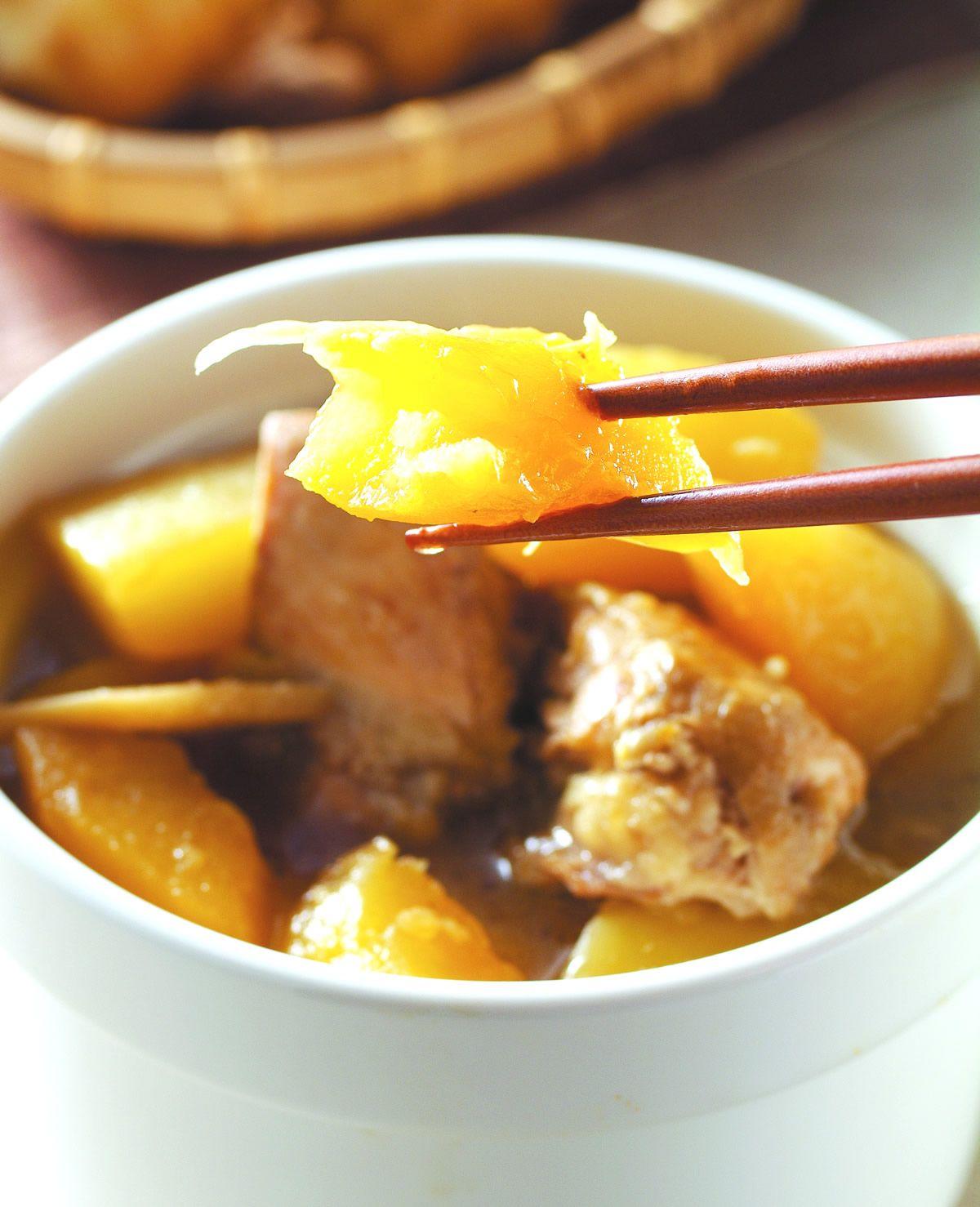食譜:青木瓜燉雞(1)