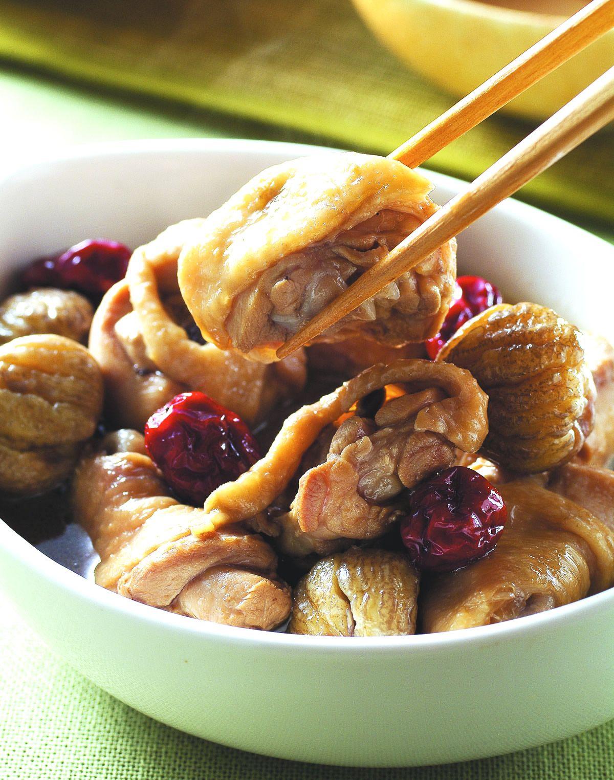 食譜:栗子燉雞
