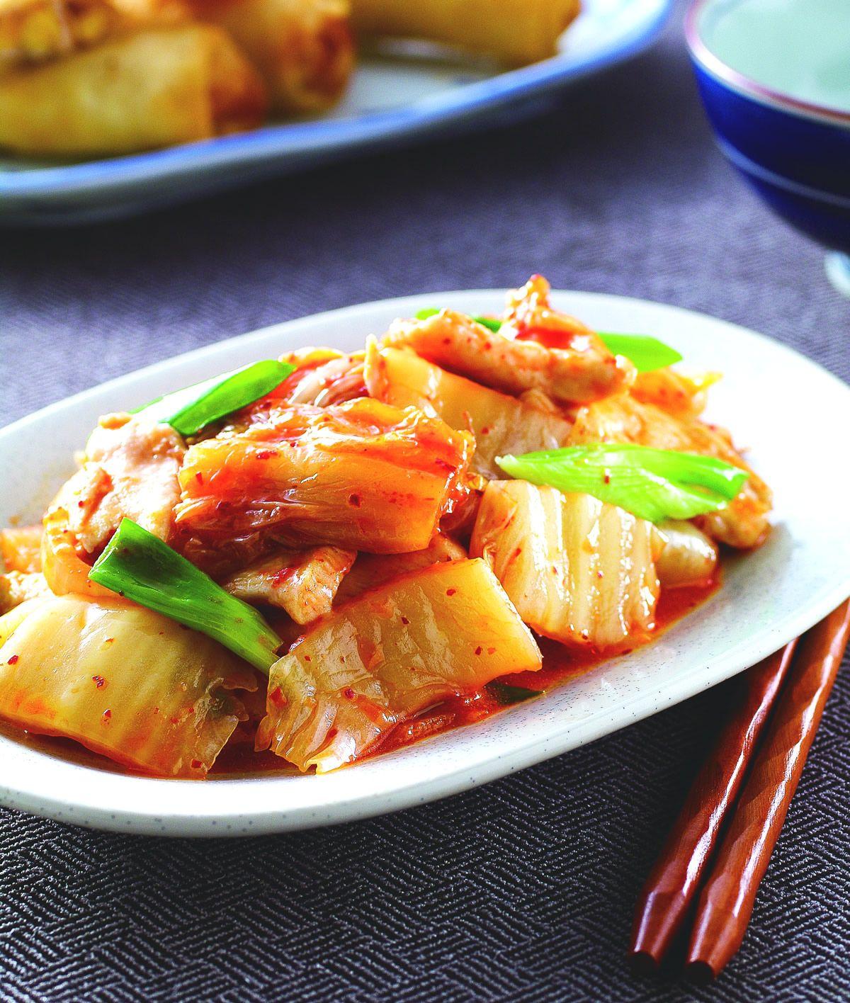 食譜:韓式泡菜炒雞肉片