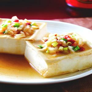 酸辣蒸豆腐