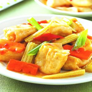 辣炒炸豆腐