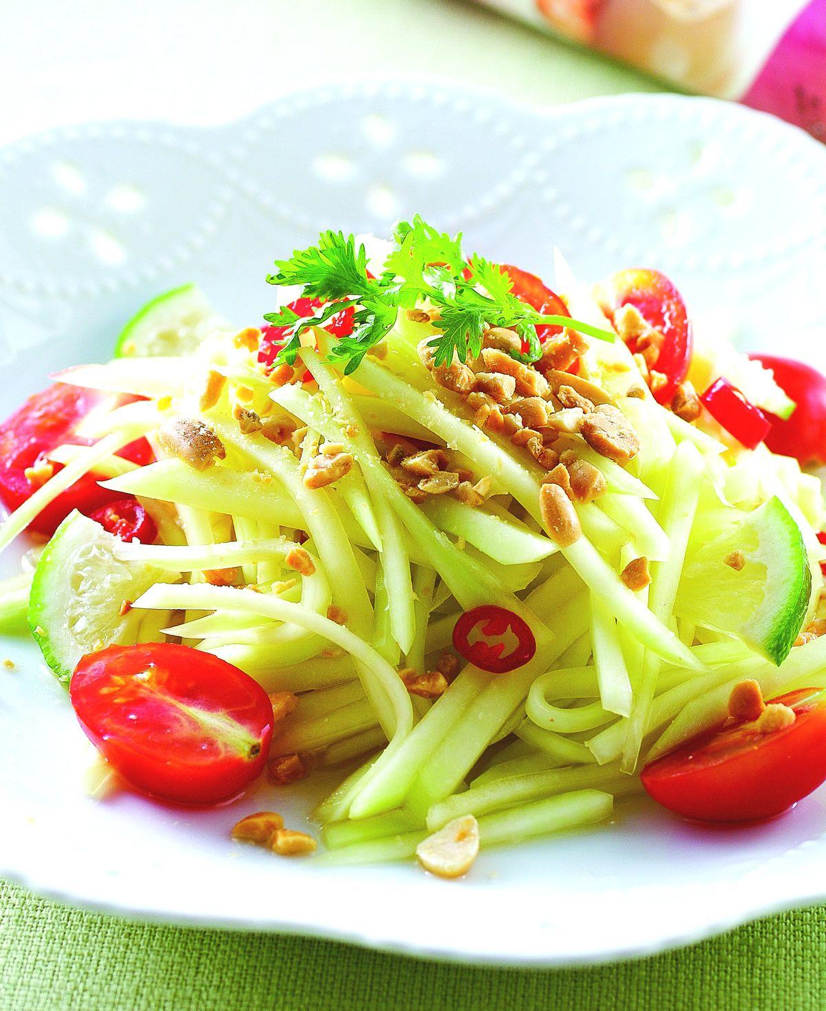 食譜:涼拌青木瓜(4)
