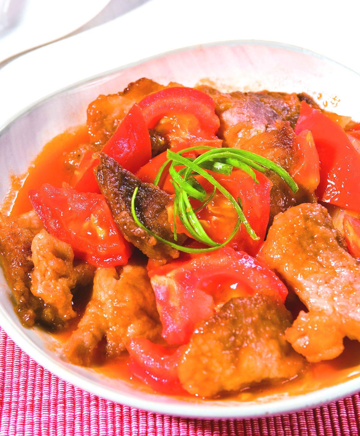 食譜:蕃茄咕咾肉(1)