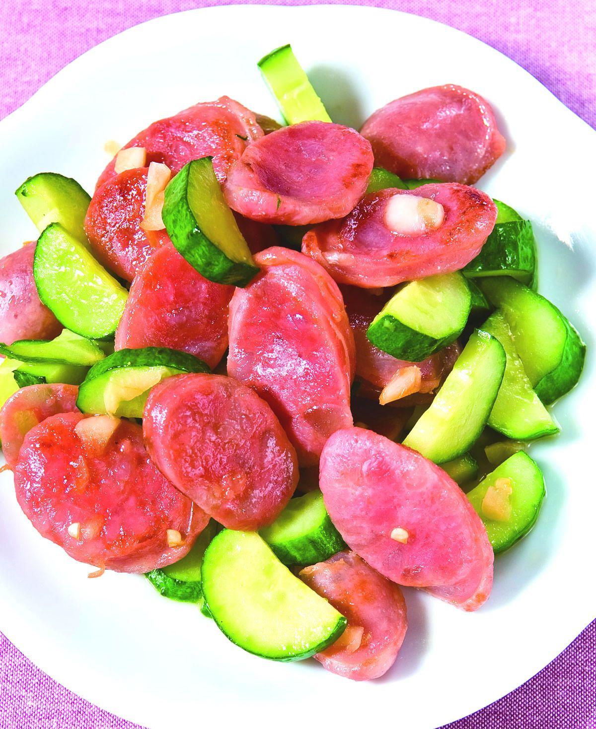 食譜:黃瓜炒香腸