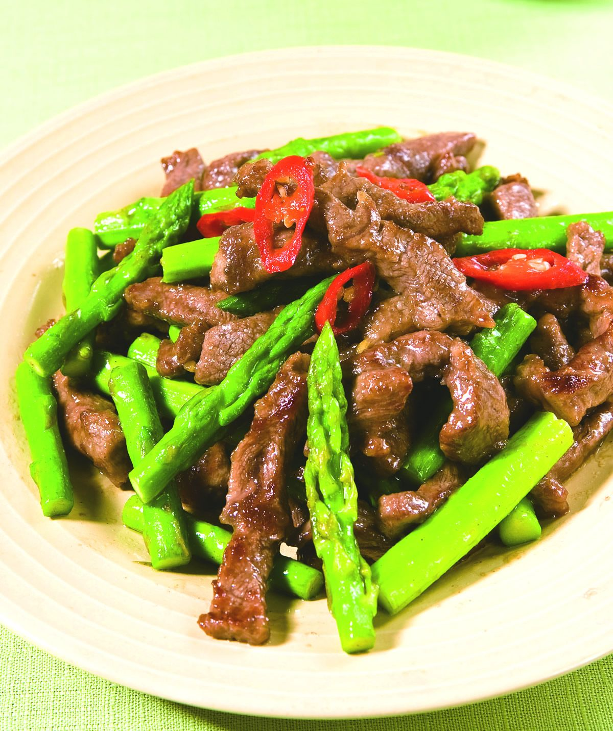 食譜:蘆筍炒牛柳