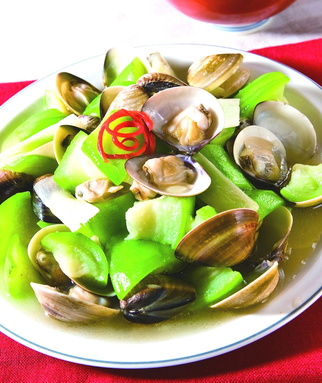 食譜:絲瓜炒蛤蜊(2)