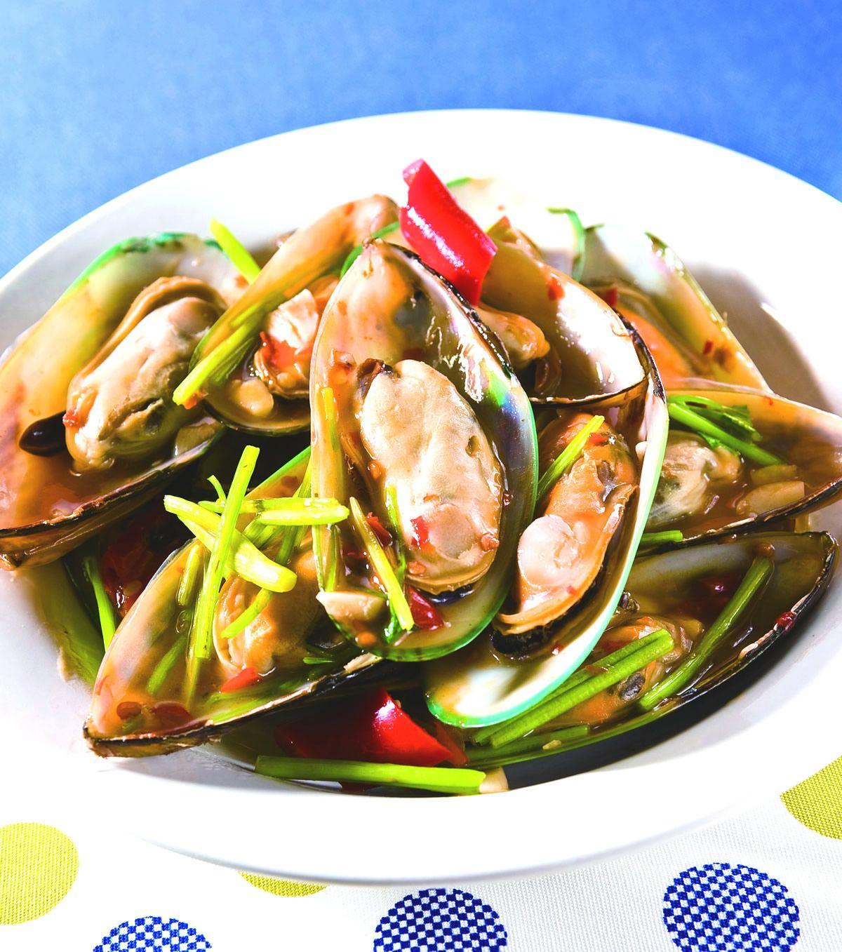 食譜:香根孔雀貝