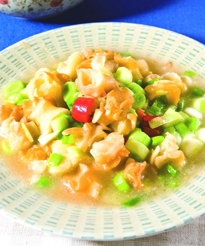 食譜:蒜苗炒雪螺(1)