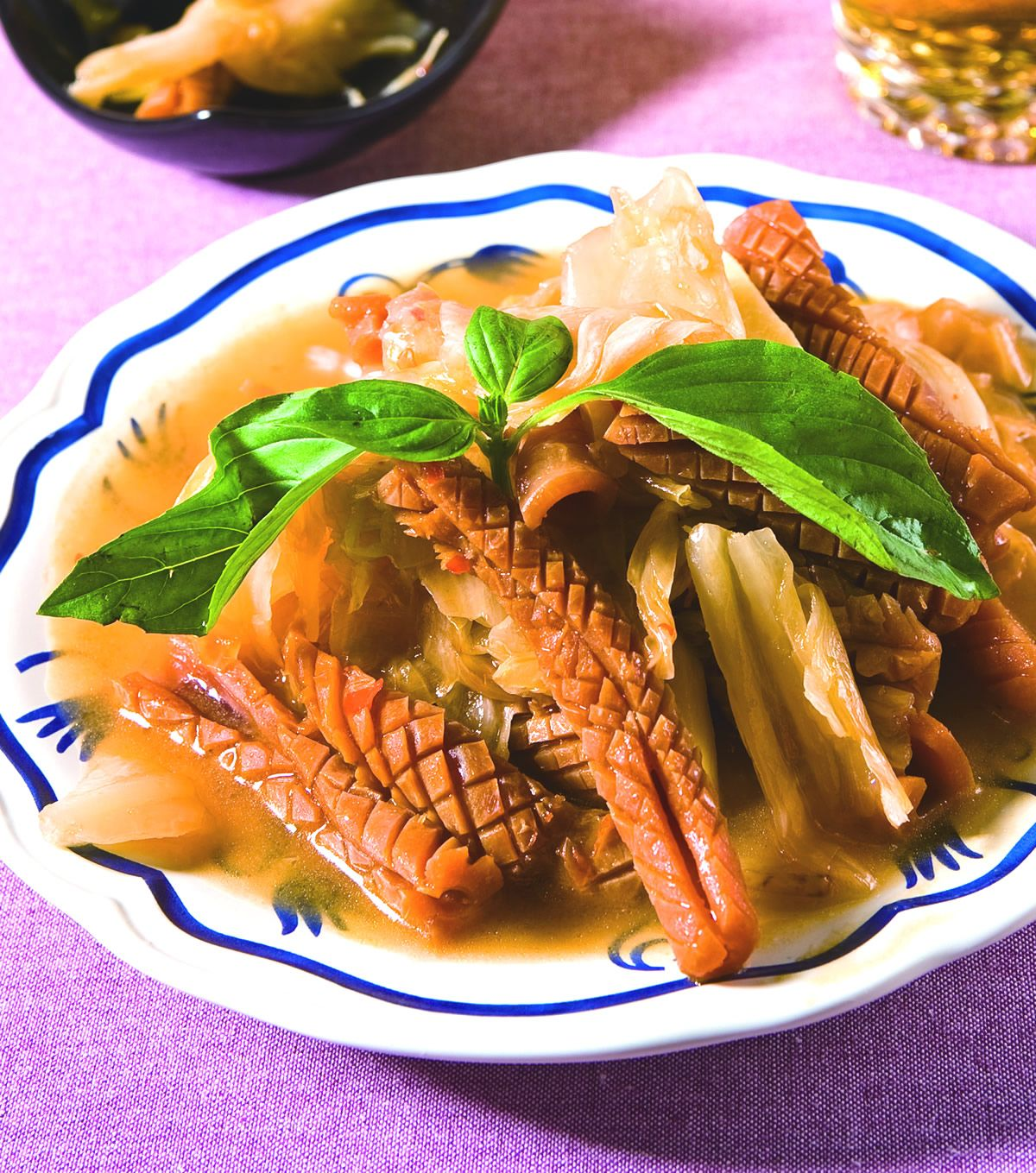 食譜:泡菜炒魷魚