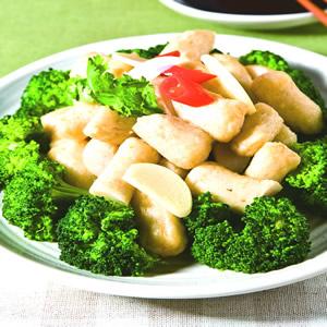 綠花椰炒甜不辣