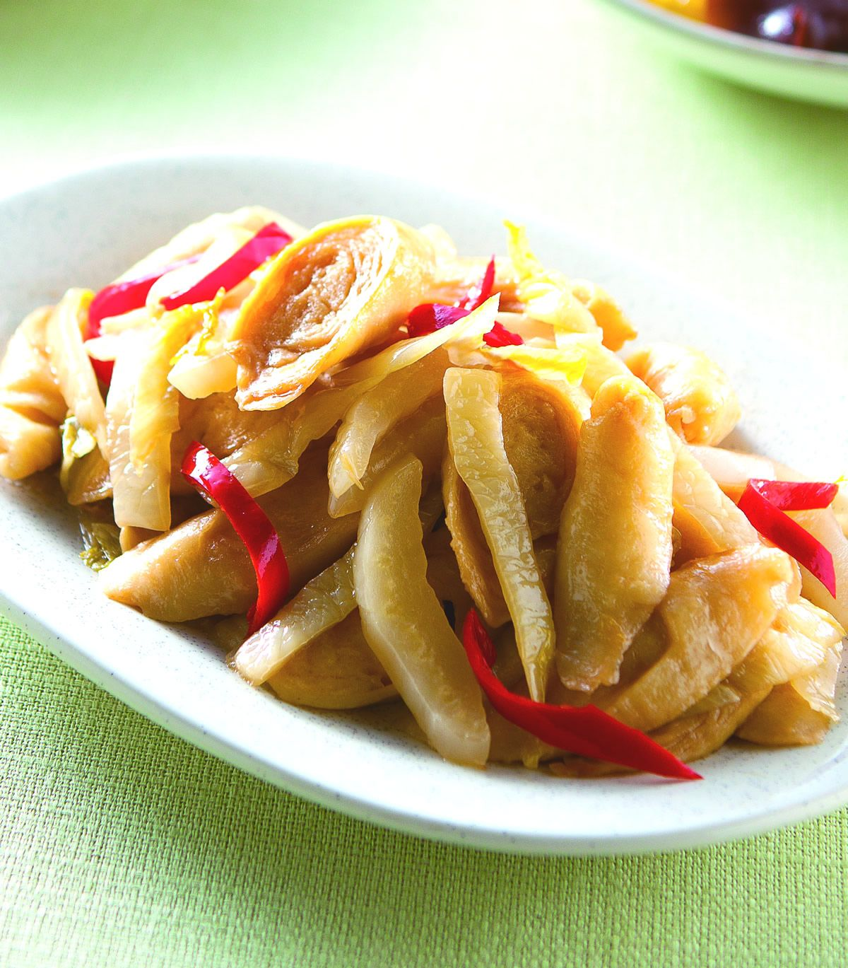 食譜:薑炒酸菜麵腸