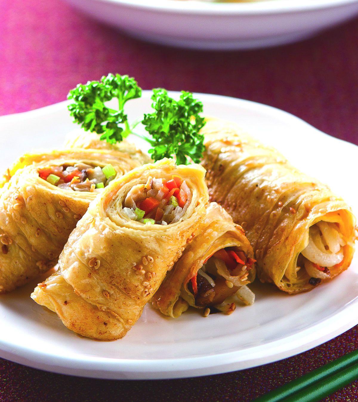 食譜:香煎豆包卷