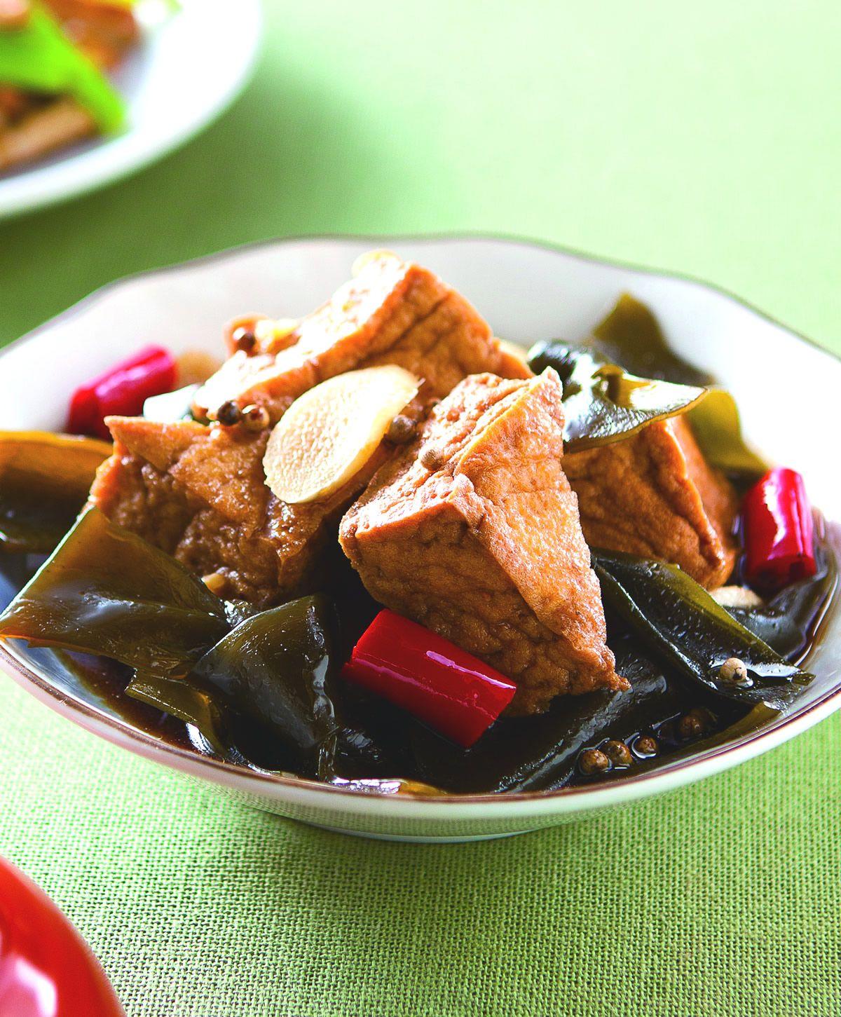 食譜:海帶滷油豆腐