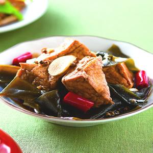 海帶滷油豆腐