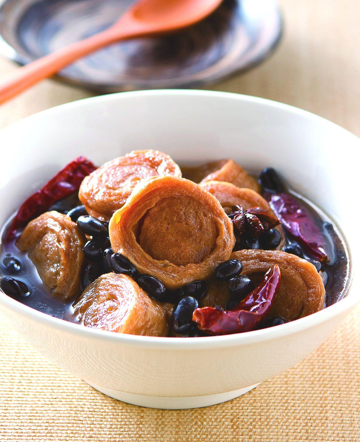 食譜:黑豆滷豆輪