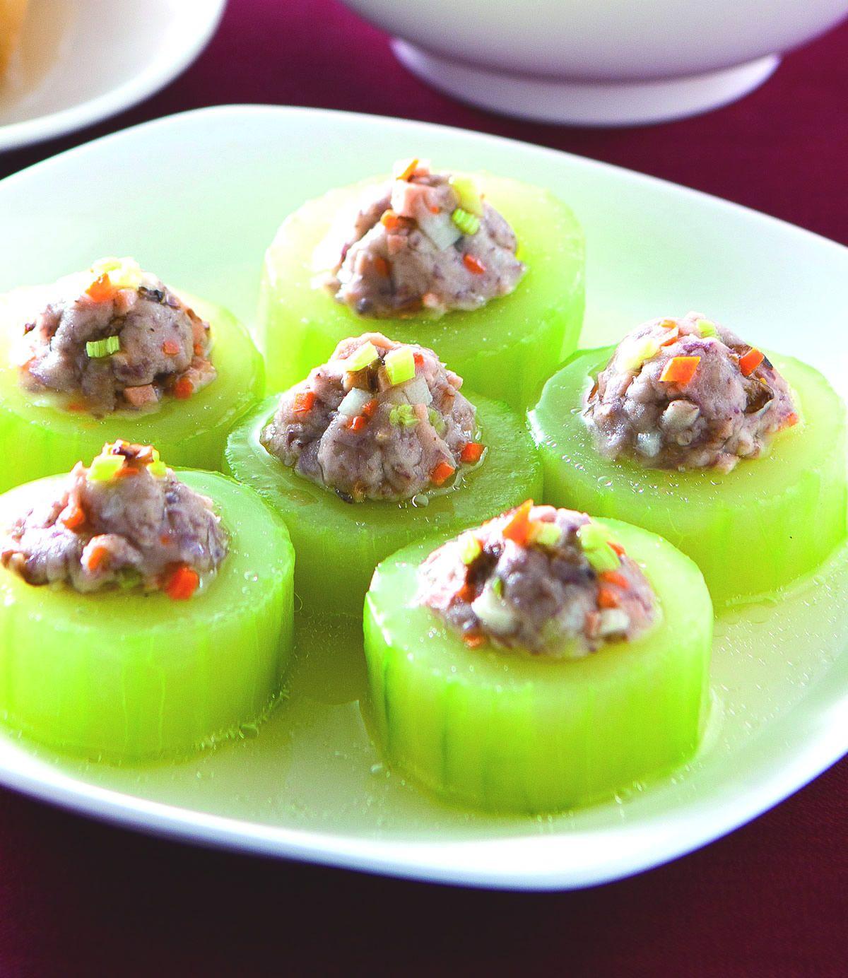 食譜:芋泥蒸大黃瓜