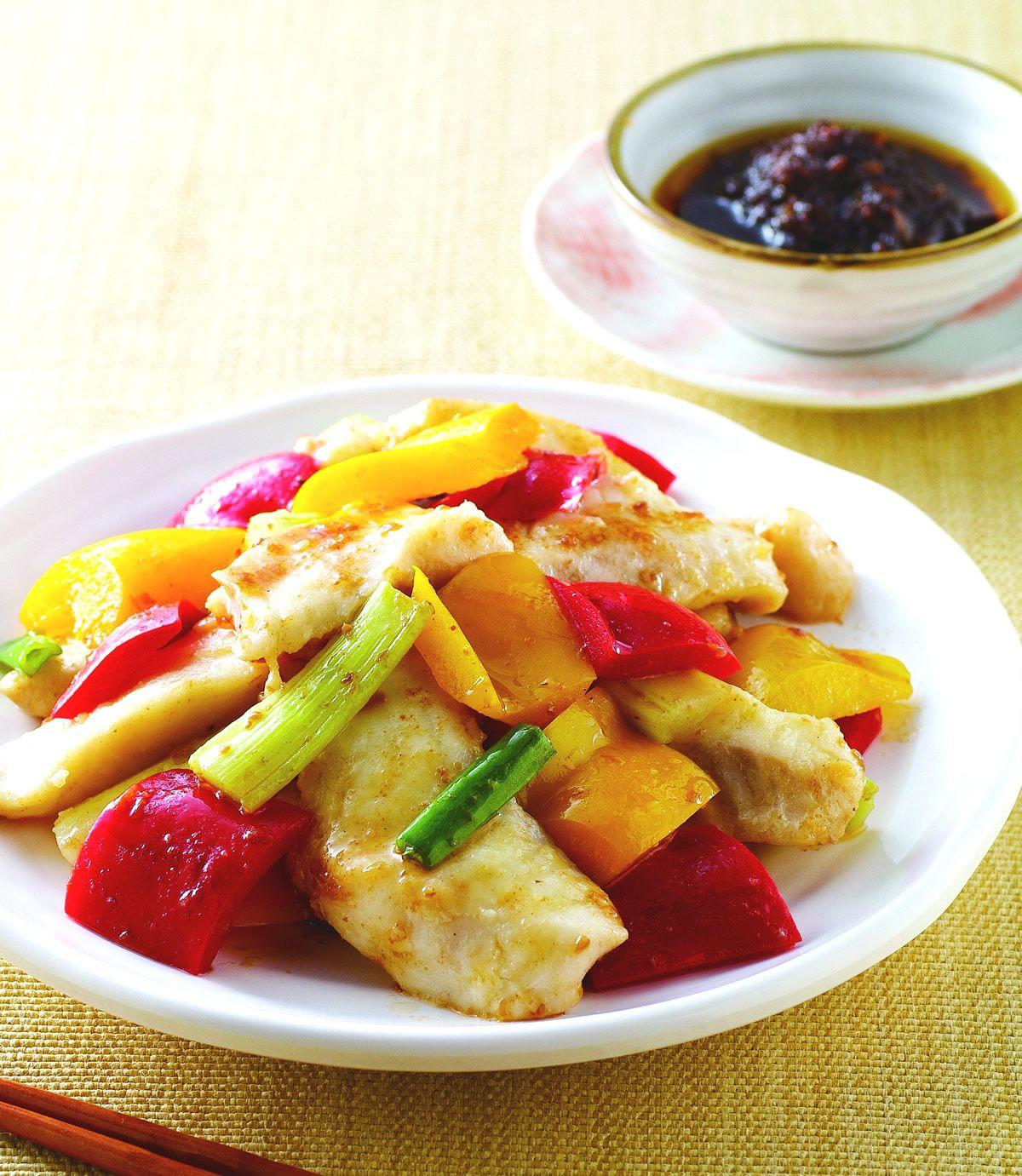 食譜:彩椒魚片
