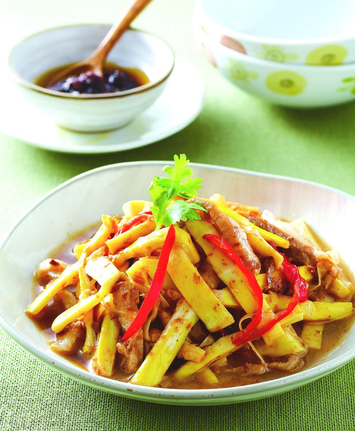 食譜:蔥香肉絲桂竹筍