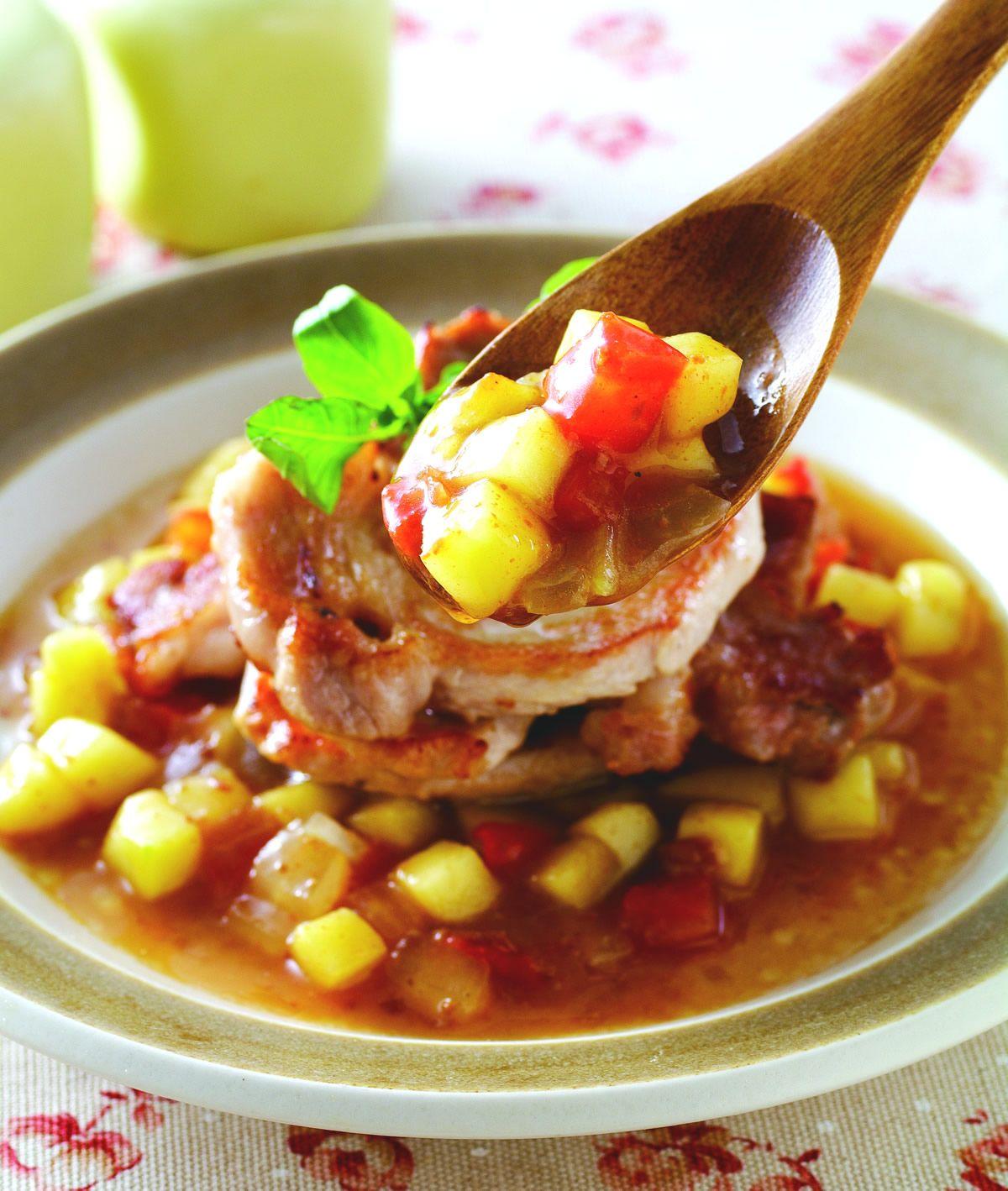 食譜:果香洋蔥豬排