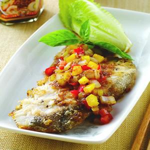 蔥煎鱈魚排