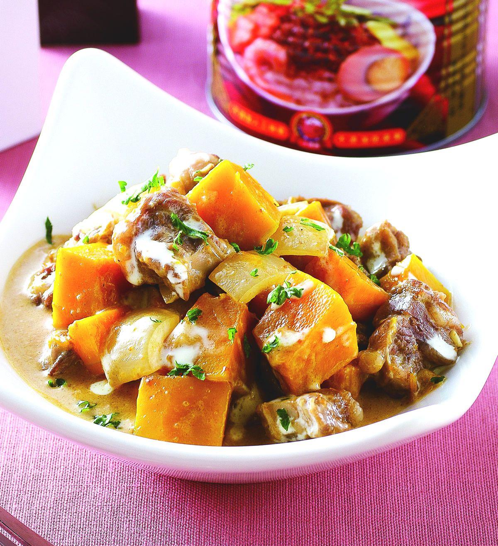 食譜:南瓜蔥燉牛肋