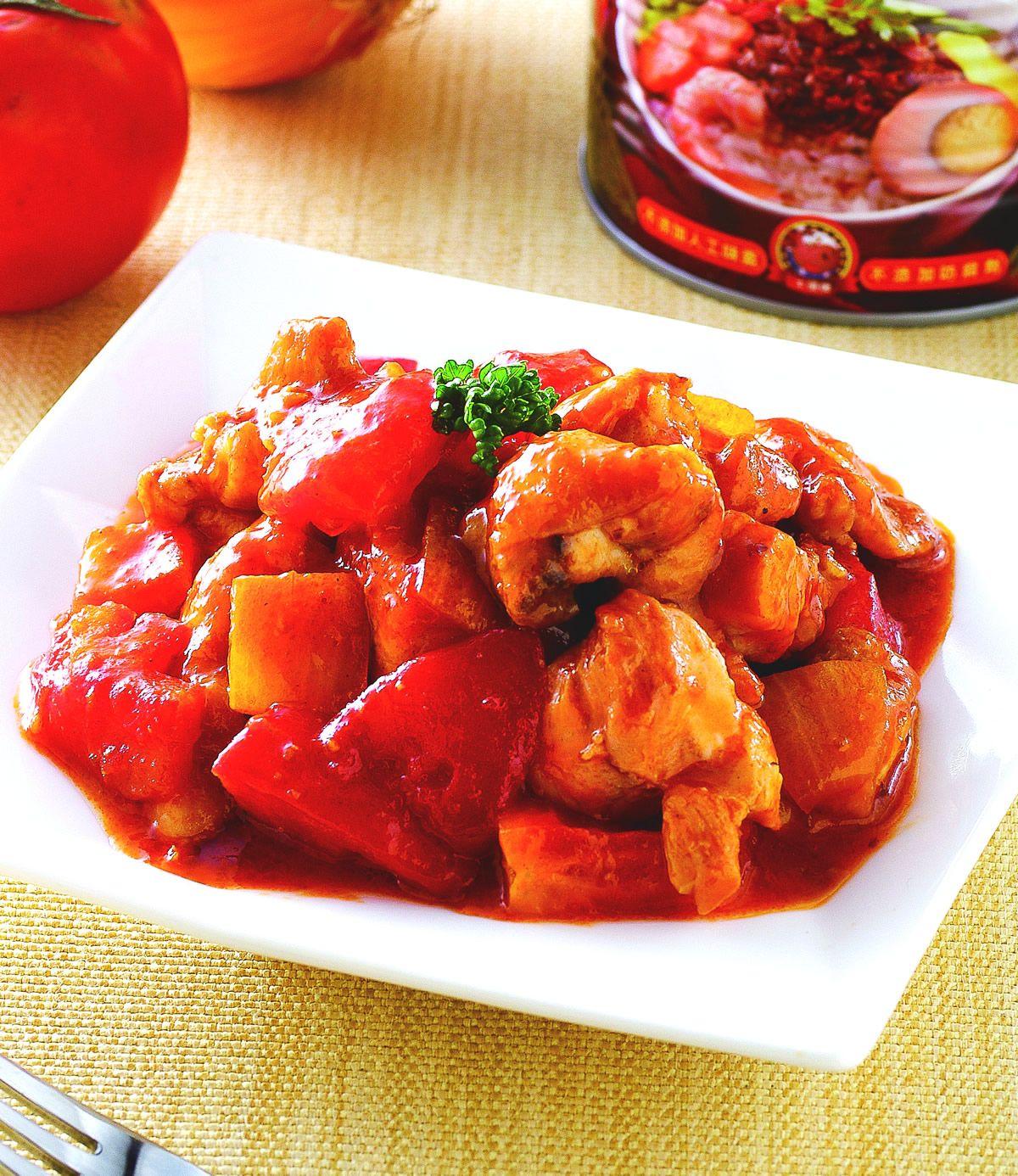 食譜:香蔥蕃茄燉雞肉