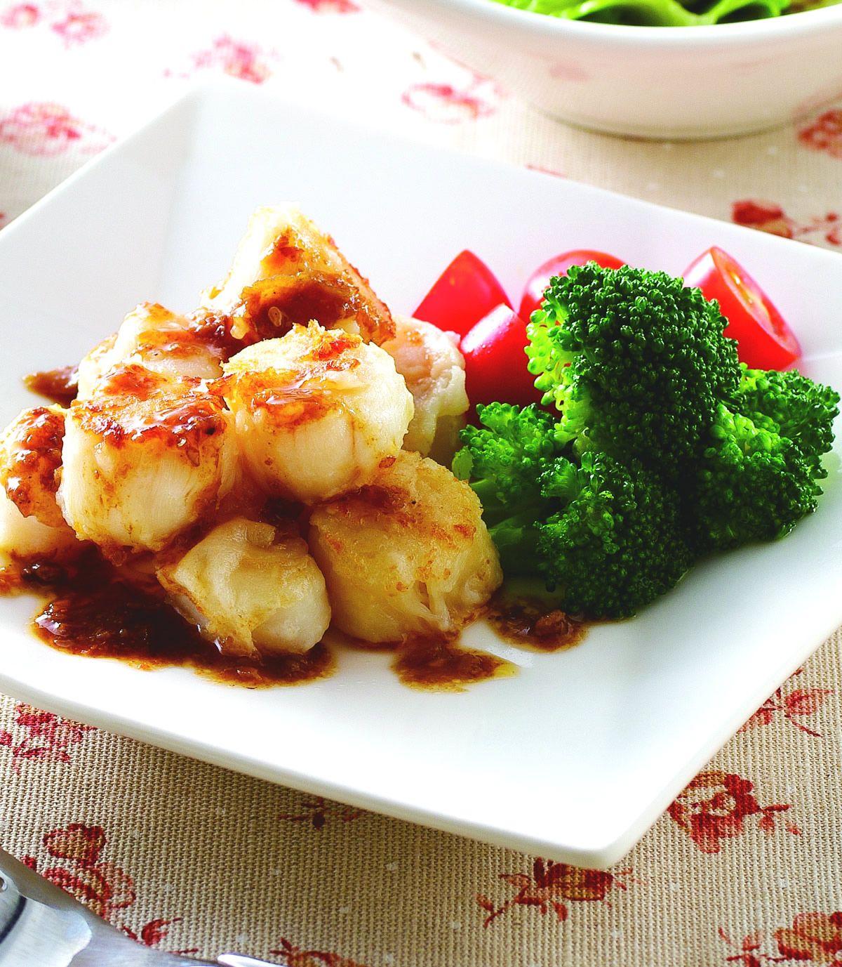 食譜:紅蔥嫩煎鮮干貝