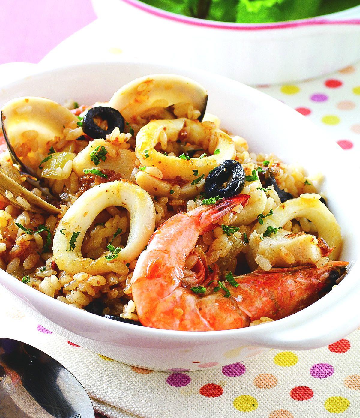 食譜:紅蔥海鮮燉飯
