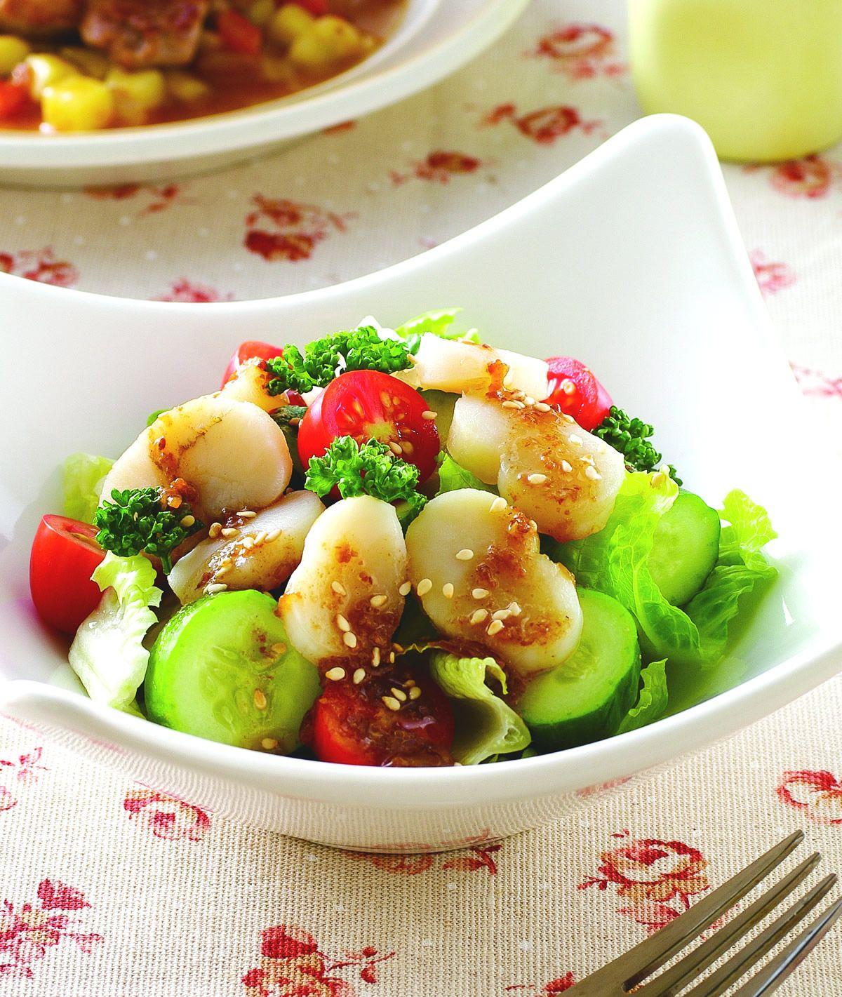 食譜:小黃瓜鮮干貝蔥香沙拉