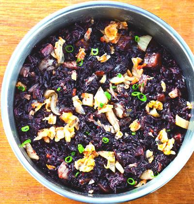 食譜:泡菜紫米牛肉飯
