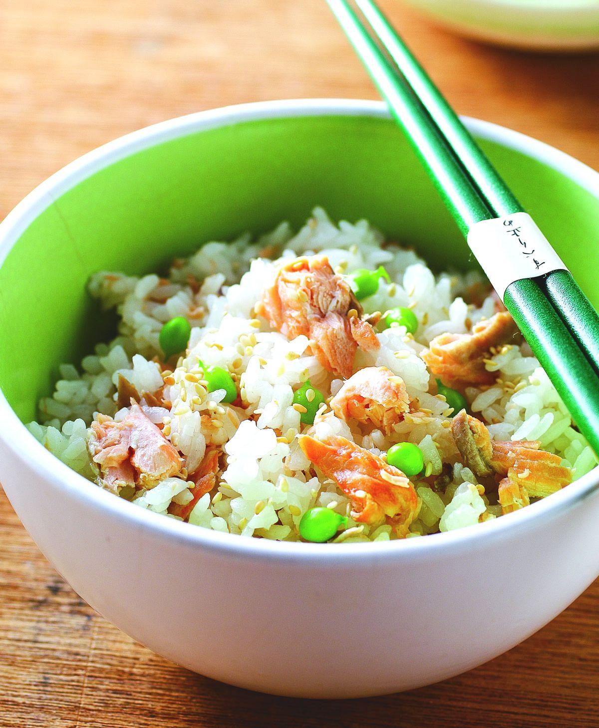 食譜:鮭魚炊飯